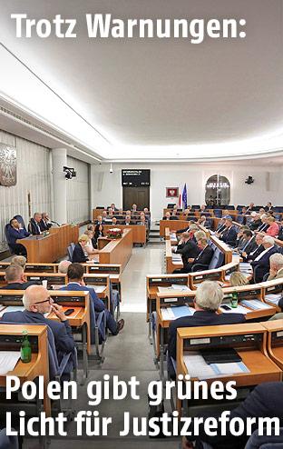 Senatssitzung in Warschau