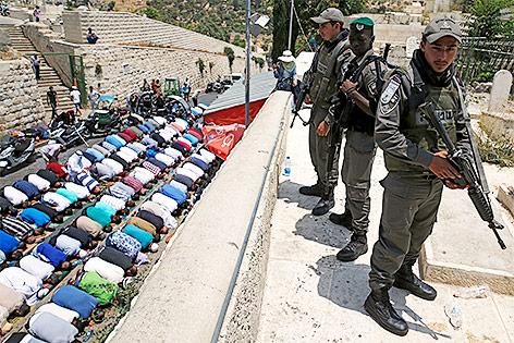 Israelische Sicherheitskräfte am Tempelberg