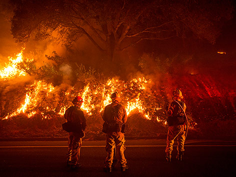 Brand nahe des Yosemite-Nationalparks