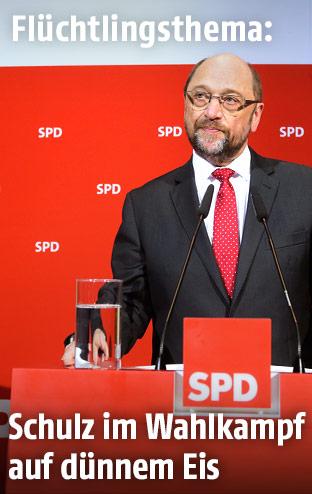 Der Spitzenkandidat der deutschen SPD, Martin Schulz