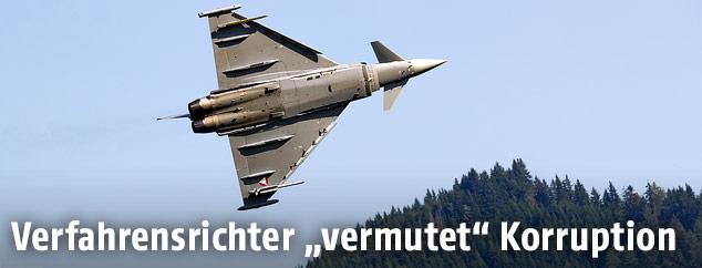 Eurofighter während eines Flugmanövers