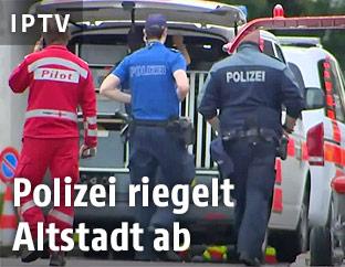 Polizisten und Hubschrauberpilot in Schaffhausen