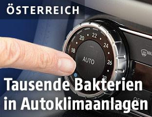 Knopf für Klimaanlage im Auto