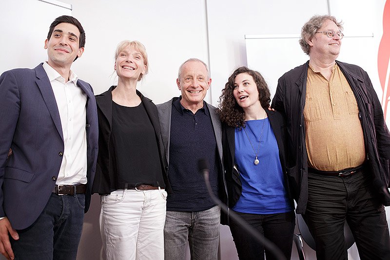 Sebastian Bohrn-Mena, Maria Stern, der langjährige Grün-Mandatar Peter Pilz, Stephanie Cox und  Peter Kolba