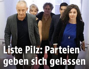 Peter Pilz und das Team seiner Liste