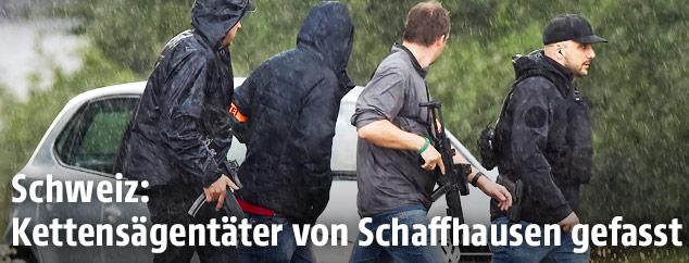 Einsatzkräfte in Schaffhausen