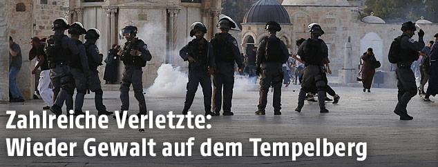 Zusammenstöße auf dem Tempelberg