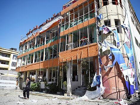 Schäden nach Explosion in Kabul