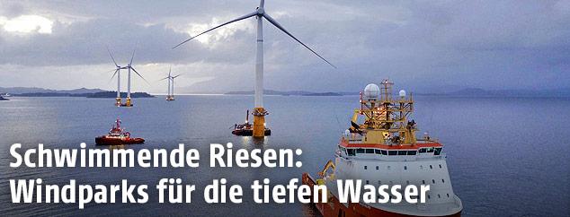 Windräder auf offenem Meer