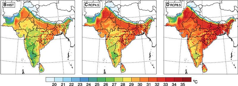Grafische Darstellung der Kühlgrenztemperatur