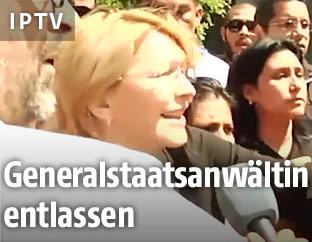Venezuelas entlassene Generalstaatsanwältin Luisa Ortega