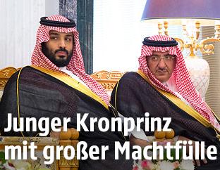 Die saudischen Kronprinzen Mohammed bin Salman und Mohammed bin Naif