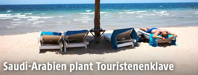 Tourist am Roten Meer