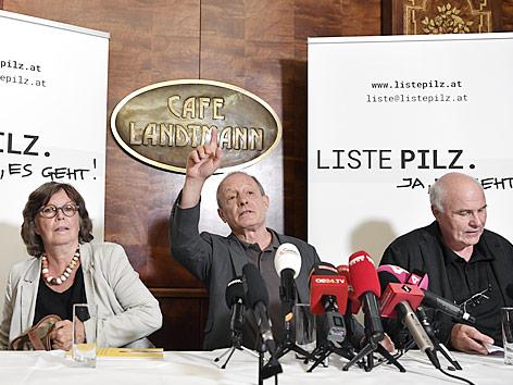 Biochemikerin Renee Schröder, Peter Pilz und Informatiker Hannes Werthner