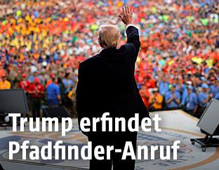 US-Präsident Donald Trump beim Pfadfindertreffen in West Virginia