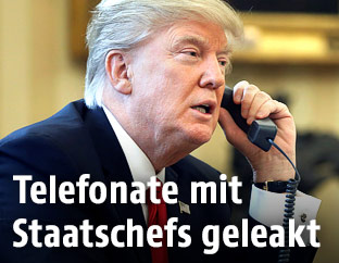 US-Präsident Trump telefoniert