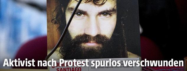 Foto des vermissten Aktivisten Santiago Maldonado