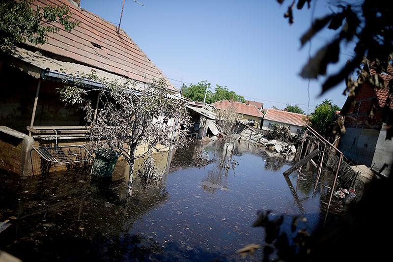 Hochwasser am 4. Juni 2014 in Obrenovac (Serbien)