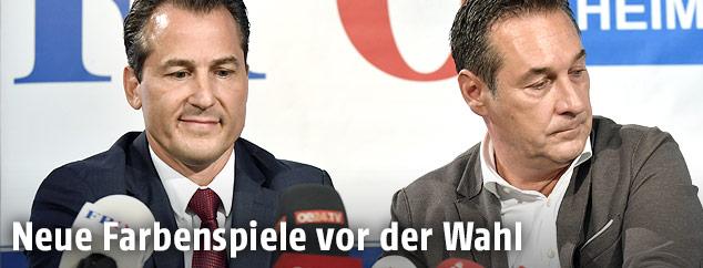 Robert Lugar und Heinz-Christian Strache