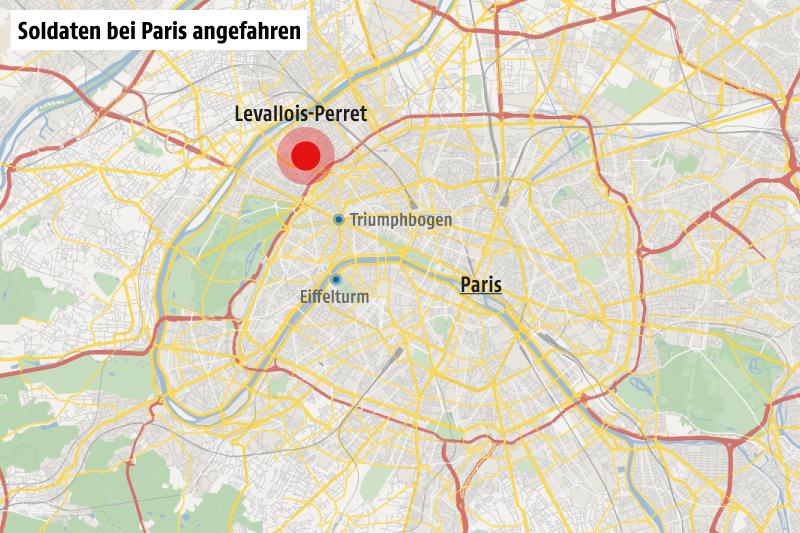 Karte von Paris