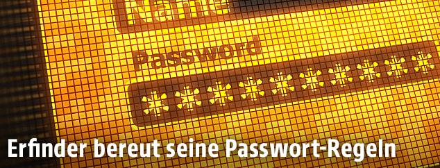 Computerscreen zeigt eine Passwortanmeldung