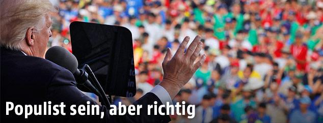 Donald Trump vor Publikum