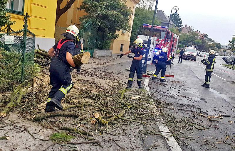 Feuerwehreinsatz in Baden bei Wien