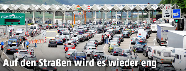 Stau auf der Brenner Autobahn A13