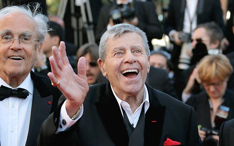 Jerry Lewis bei den Filmfestspielen in Cannes, 2013