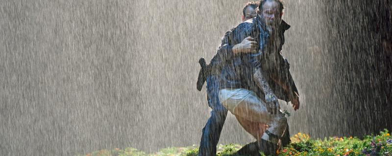 Gerald Finley als Lear im Regen