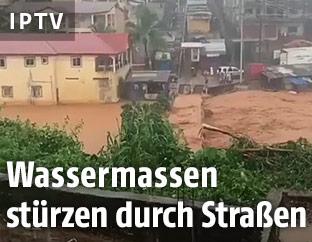Überschwemmungen in Sierra Leone