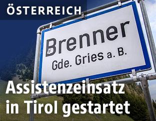 Brenner-Ortsschild