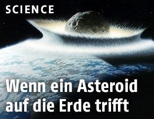 Asteroid trifft auf Erde
