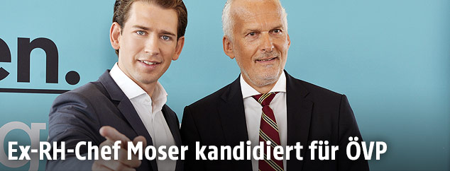 Parteiobmann Sebastian Kurz und der frühere Rechnungshofpräsident Josef Moser