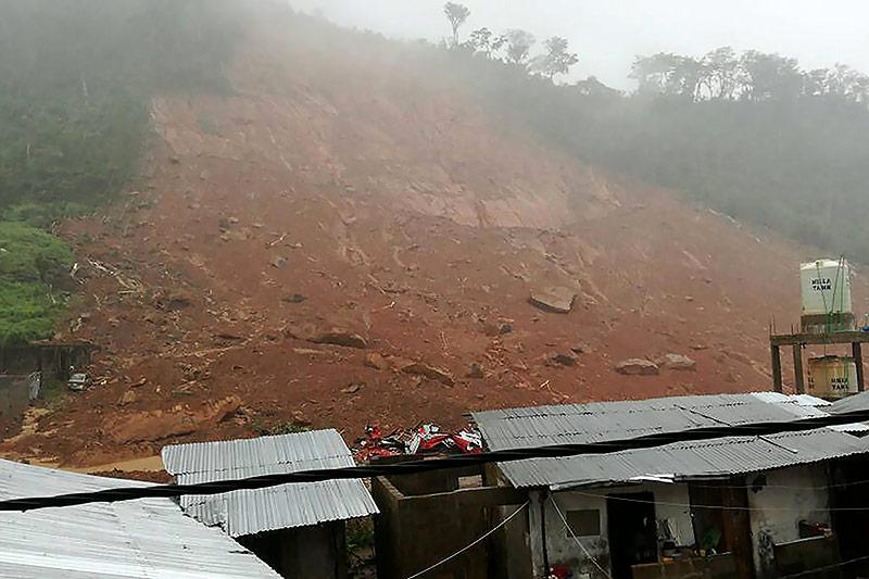Erdrutsch in Sierra Leone
