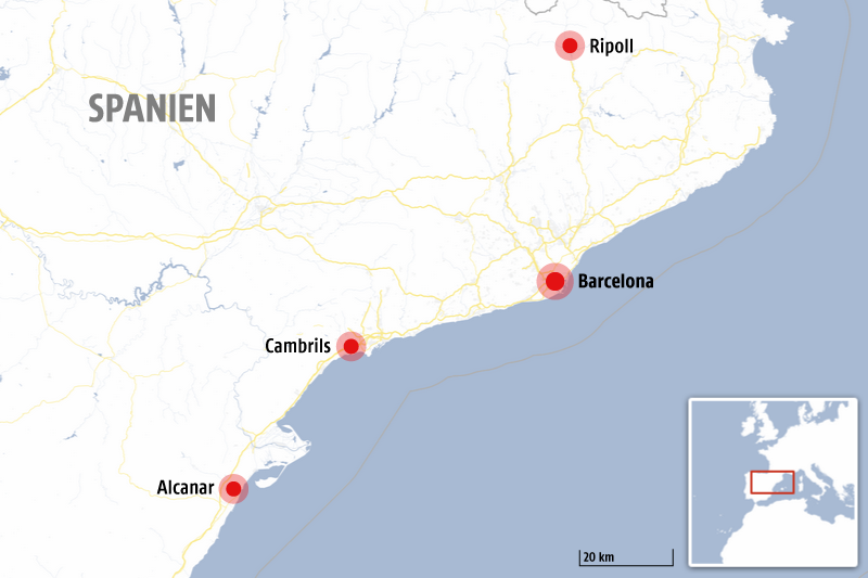 Karte von Spanien