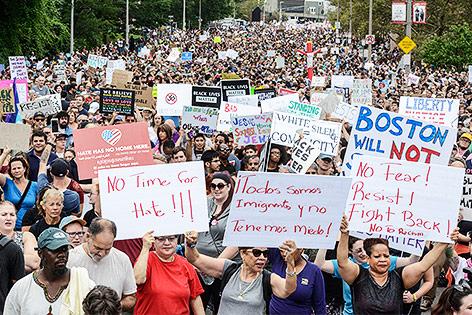 Anti-Rassismus-Demo in Boston