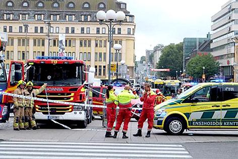 Einsatzkräfte in Turku, Finnland