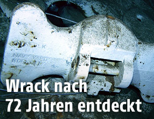 Wrackteil der USS Indianapolis