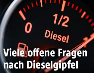 Dieseltankanzeige