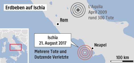 Karte von Ischia und Umgebung