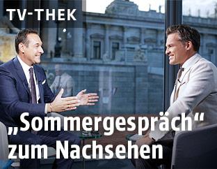 FPÖ-Chef Heinz-Christian Strache und ORF-Moderator Tarek Leitner