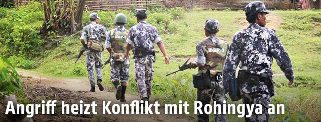 Grenzpolizei in Rohingya