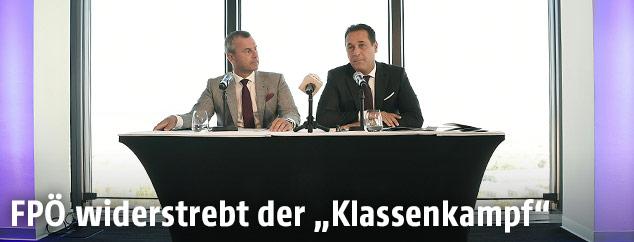 Der 3. Nationalratspräsident Norbert Hofer und FP-Bundesparteiobmann Heinz Christian Strache