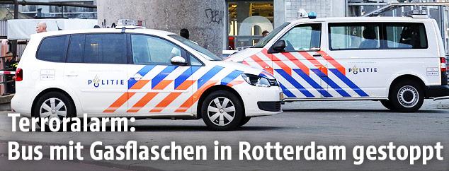 Einsatzkräfte in Rotterdam