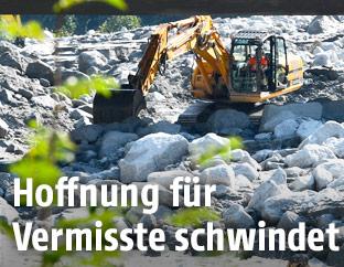Aufräumarbeiten in der Schweiz