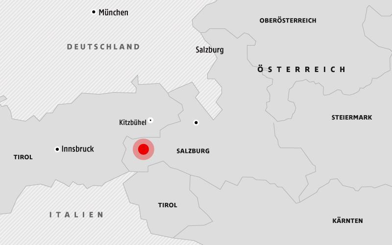 Karte zeigt den Unfallort