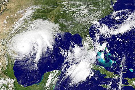"""Satellitenbild von Wirbelsturm """"Harvey"""""""