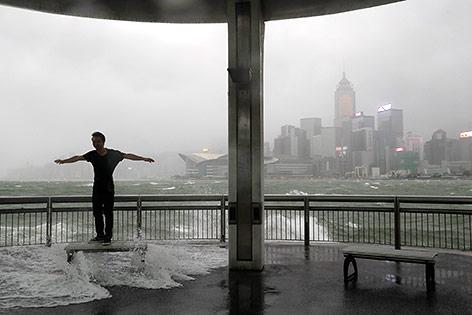 Taifun in Hongkong