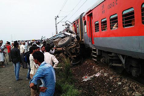 Zugsunglück in Indien